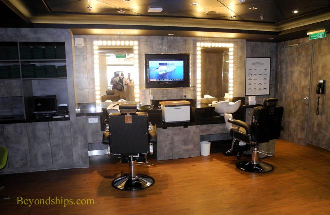 Norwegian Getaway, barber shop