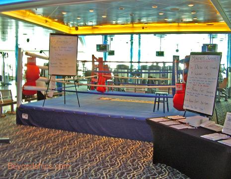 boxing ring cruise ship Independence of the Seas