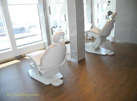 Norwegian Breakaway cruise ship, spa salon