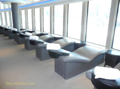Norwegian Breakaway cruise ship, spa thermal chairs