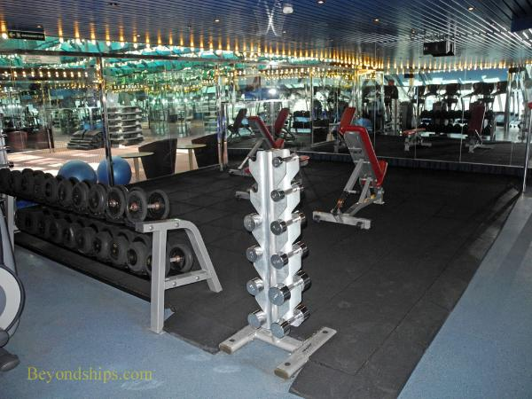 Carnival Liberty fitness center