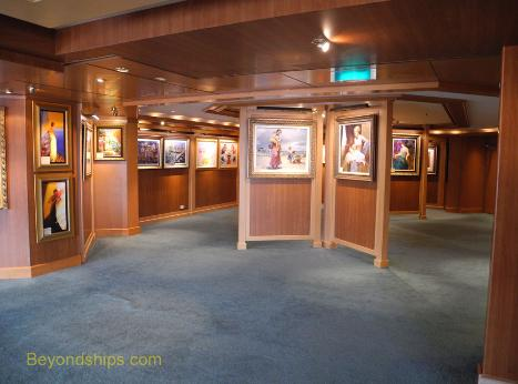 Coral Princess art gallery
