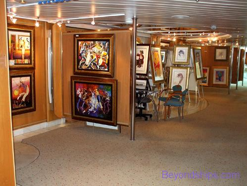 Grandeur of the Seas, art gallery