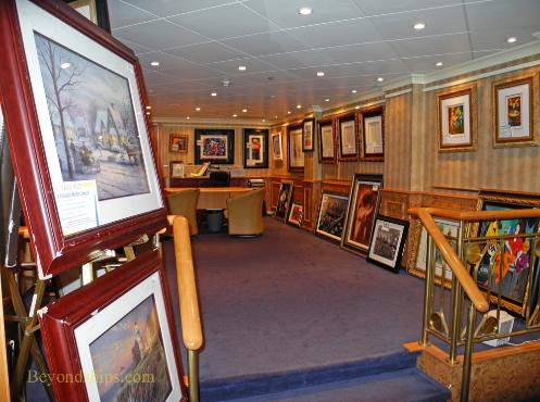 Norwegian Sun cruise ship art gallery