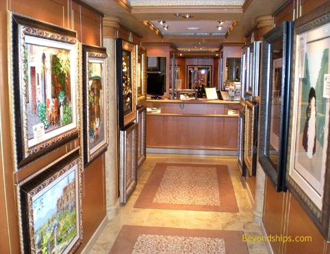 Ruby Princess art gallery
