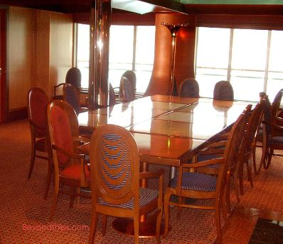 Cruise ship Carnival Glory card room