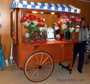 Grandeur of the Seas, floral cart