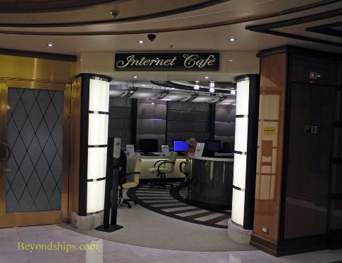 internet cafe, shops, Regal Princess cruise ship