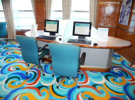 Norwegian Sun cruise internet cafe