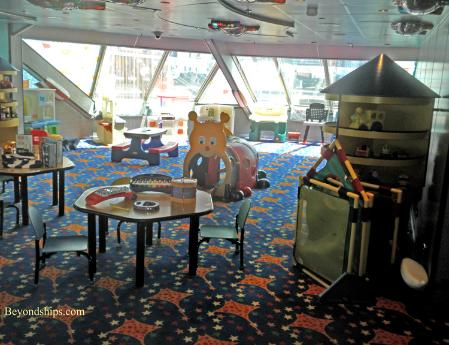 Cruise ship Carnival Glory children's area