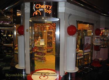 Cruise ship Carnival Glory shops