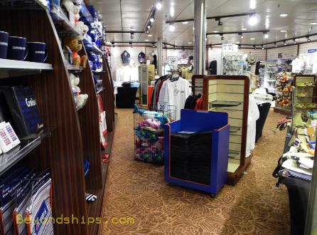 cruise ship Carnival Ecstasy shops