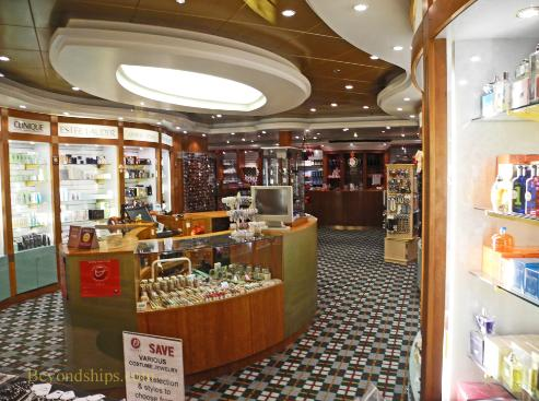 Norwegian Sun cruise ship shops