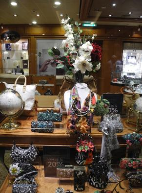 Cunard's cruise liner Queen Victoria - Shops