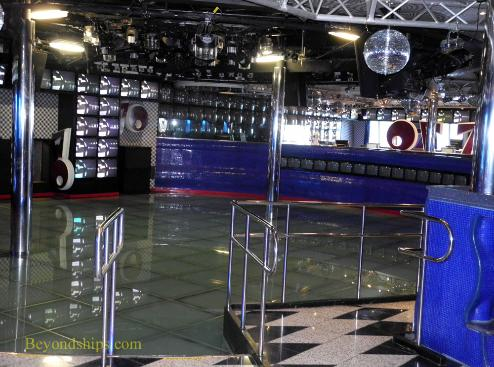 Cruise ship Carnival Freedom night club