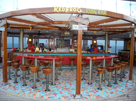 Cruise ship Carnival Glory Red Frog Rum Bar