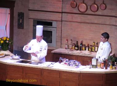 Culinary demonstration in Coral Princess Universe Lounge