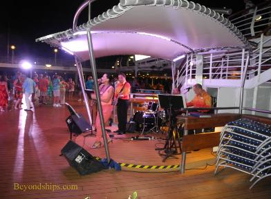 Cruise ship Legend of the Seas, deck party