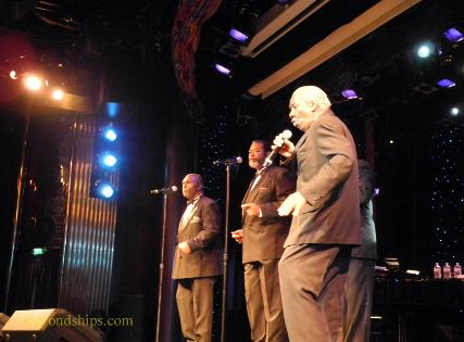 Bill Pinkney's Original Drifters on cruise ship Legend of the Seas