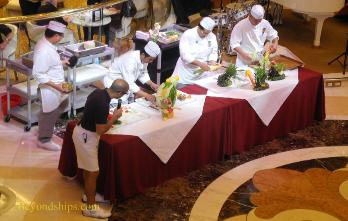 Royal Princess cruise ship, fruit carving demonstration