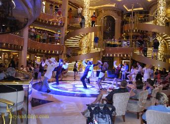 Show in the piazza, cruise ship Regal Princess