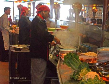 Carnival Liberty buffet