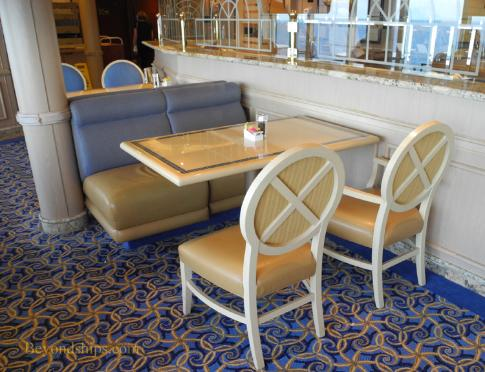 Cunard's cruise liner Queen Victoria - Lido Restaurant - table
