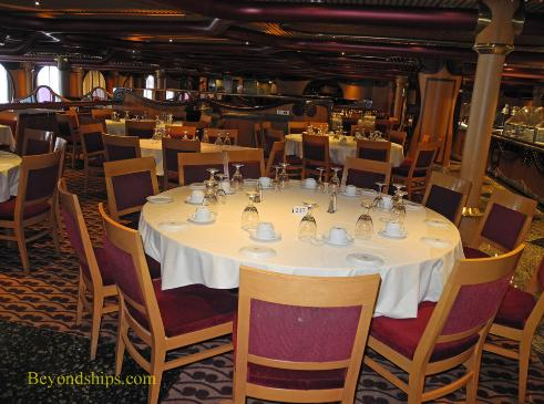 Carnival Paradise cruise ship, dining
