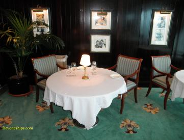 Cruise ship Ocean Princess Sterling Steakhouse specialty restaurant