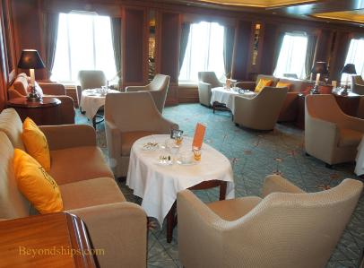 Cunard's cruise liner Queen Victoria - afternoon tea