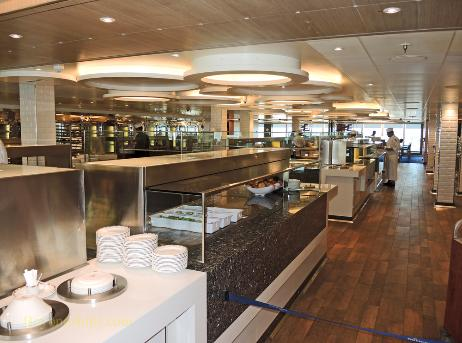 Britannia cruise ship, Horizon buffet