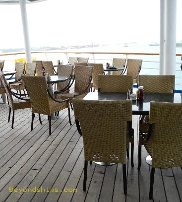 Carnival Ecstasy outdoor tables