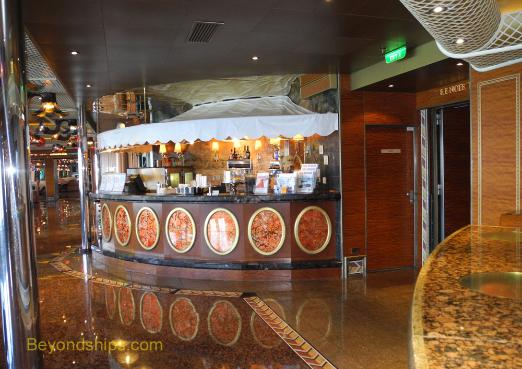 Carnival Conquest specialty coffee bar