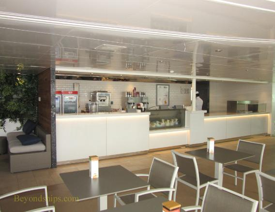 Britannia cruise ship, ice cream shop