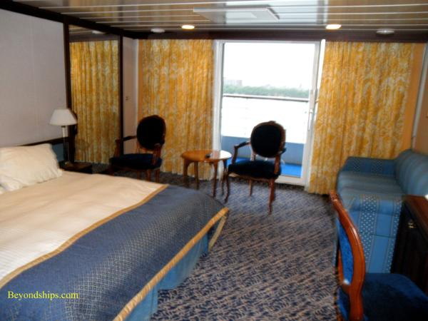 Cruise ship Ocean Princess cabins