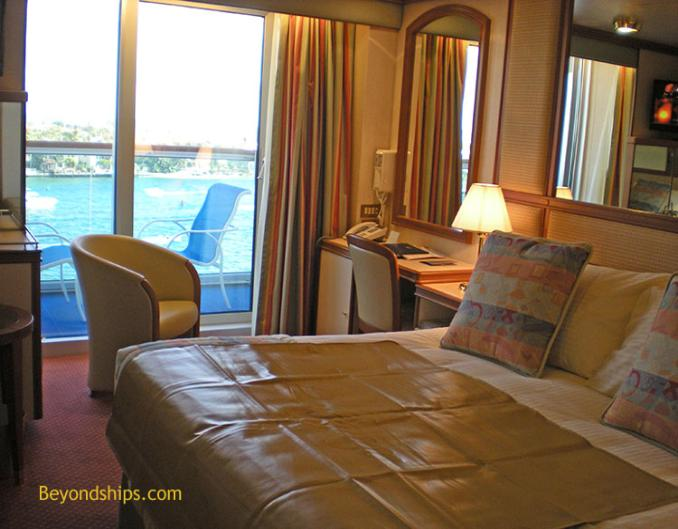 Ruby Princess, Oceanview double with balcony