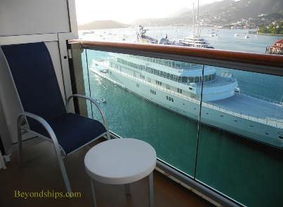 Royal Princess cruise ship, balcony