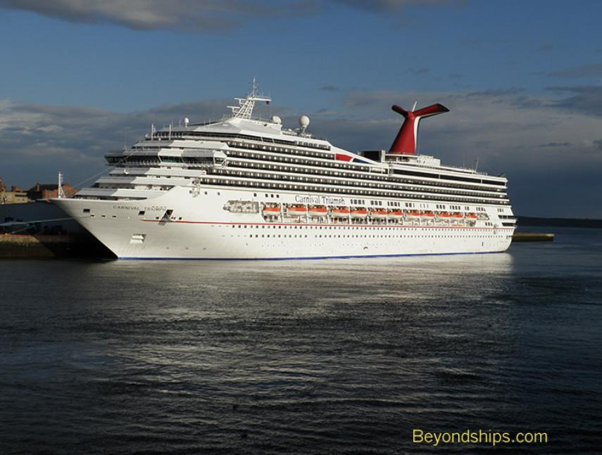 Carnival Triumph cruise ship in Saint John