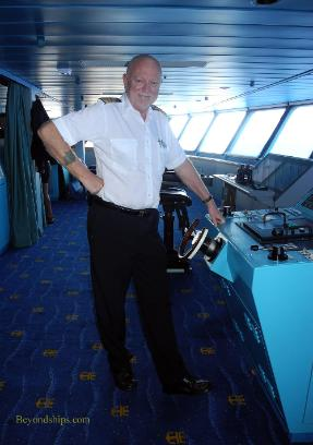 Capatin Kjell Nordmo of cruise ship Legend of the Seas