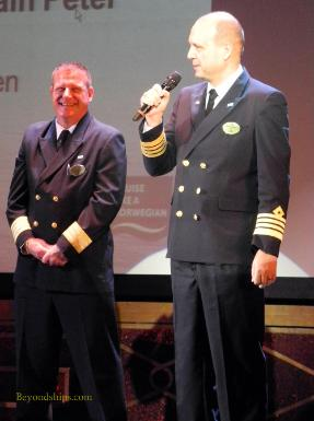 Hotel Director Colin Lodge and Captain Peter Engwall of Norwegian Sky