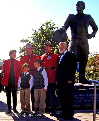 Cruise photo - Cunard Line - Dedication of Sir Samuel Cunard statue