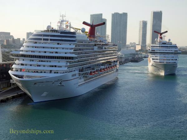 Carnival Breeze and Carnival Liberty cruise ships