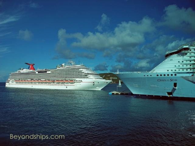 Carnival Dream of Carnival Cruise Lines and Oasis of the Seas