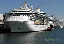 image of cruise ships Jewel of the Seas, Eurodam and Caribbean Princess