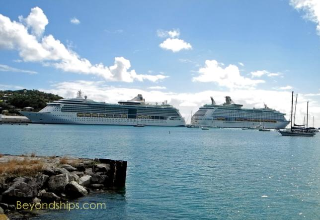 Photo of Royal Caribbean cruise ships Serenade of the Seas and Explorer of the Seas