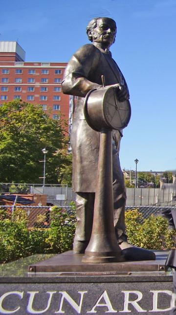 cruise travel photo - Sir Samuel Cunard statue Halifax Nova Scotia