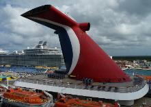 Carnival Paradise cruise ship, funnel