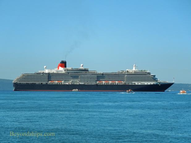 Picture of Cunard ship Queen Victoria off Split Coratia