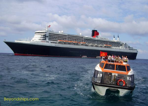Queen Mary 2 at Princess Cays
